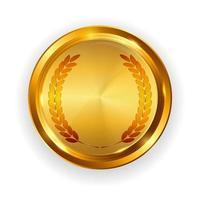 modèle d'étiquette d'or abstrait. illustration vectorielle sur blanc vecteur