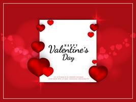 Abstrait joyeuse Saint Valentin rouge vecteur