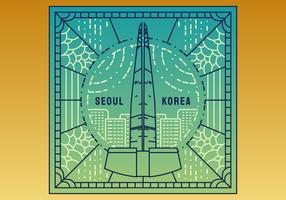 Vecteurs de Séoul exceptionnels vecteur