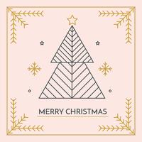 Vecteur de carte joyeux Noël minimaliste