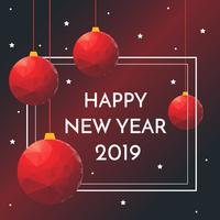Vecteur de nouvel an élégant