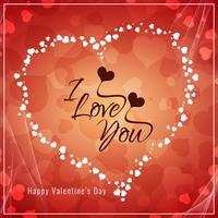 Abstrait joyeux Valentin salutation vecteur