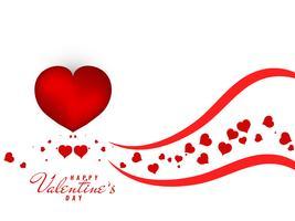 Abstrait beau fond heureux Valentin vecteur