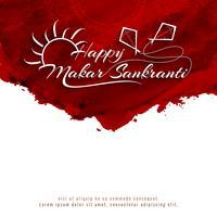 Résumé décoratif fond heureux Makar Sankranti vecteur