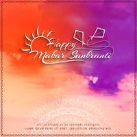 Abstrait heureux Makar Sankranti