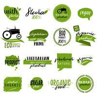 Autocollants et badges pour les aliments et boissons biologiques