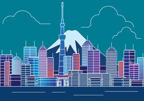 Illustration de Tokyo Skyline vecteur