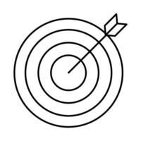 cible flèche succès icône isolé vecteur