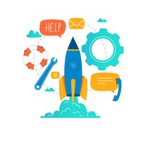 Service client, assistance client