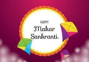 Fond de Makar Sankranti vecteur