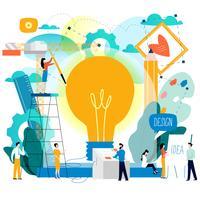 Studio de design, conception, dessin, design graphique vecteur