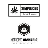 cannabis marijuana chanvre pot feuille silhouettes logo vecteur
