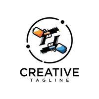vecteur gratuit de logo de pistolet et de peinture