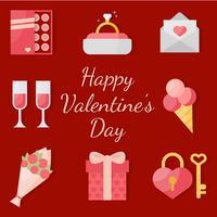 Vecteur élément valentines