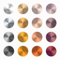 Échantillons de gradient de vecteur conique métallique