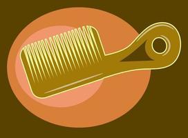 peigne à cheveux marron pour femme vecteur