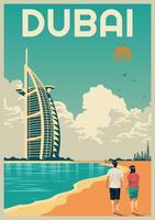 Dubaï points de repère vecteur