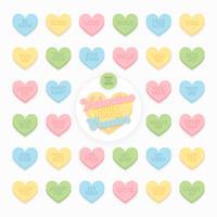 Valentine Candy Hearts Pack de vecteur