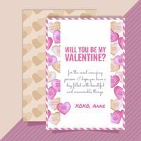 Carte de Saint Valentin de vecteur
