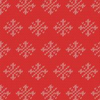 Modèle d'hiver tricoté vecteur