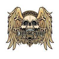armoiries crâne grunge