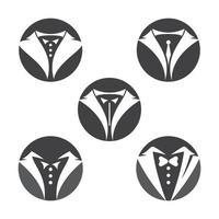 images de logo de smoking vecteur