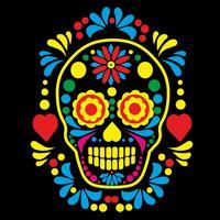 crâne de sucre mexicain vecteur
