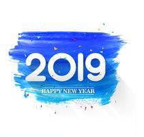 Arrière-plan de texte belle bonne année 2019