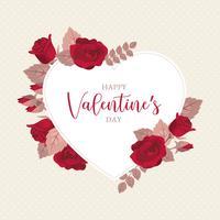 Cadre de la Saint Valentin vecteur