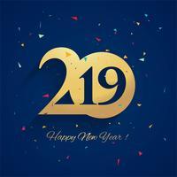 Fond de célébration belle nouvelle année 2019 vecteur