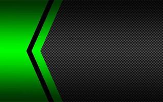 fond de vecteur abstrait noir et vert avec motif en fibre de carbone. modèle pour votre bannière et votre présentation. illustration de conception de vecteur moderne