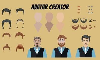 créateur d'avatar masculin vecteur