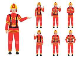 illustration de conception de vecteur de pompier isolé sur fond blanc