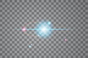 effet de lumière de lumière parasite spécial lumière du soleil vecteur