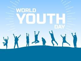 Beaux vecteurs de la journée mondiale de la jeunesse vecteur