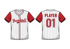 Maquette en jersey de baseball à fines rayures vecteur