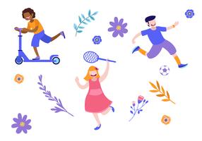 S'amuser à l'illustration vectorielle de la journée mondiale de la jeunesse vecteur