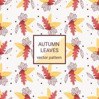 Modèle de vecteur de feuilles d'automne