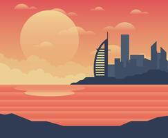 Illustration de Dubaï vecteur