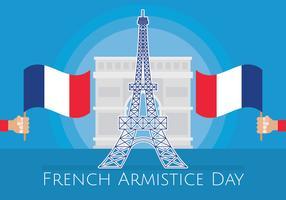 Illustration de l'Armistice français vecteur