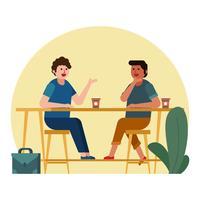 réunion de café vecteur