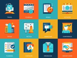 Affaires et développement Icon Set