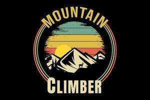 tee shirt titre alpiniste pins vecteur