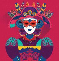 Carnevale Di Venezia Personnage féminin vecteur