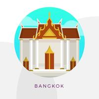 Illustration vectorielle de plat Grand Palace Bangkok City Landmark vecteur