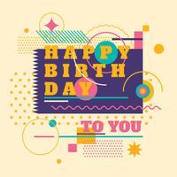 Carte d'invitation de joyeux anniversaire vecteur