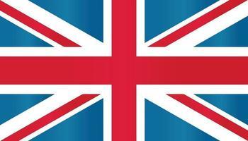 europe anglais britannique grande-bretagne drapeau symbole vecteur plat avec dégradé de couleur