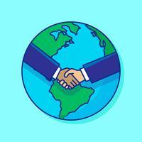 Illustration de commerce international vecteur