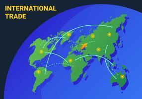 Super vecteurs d'affaires internationaux