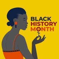Mois de l'histoire des femmes afro-américaines noires vecteur